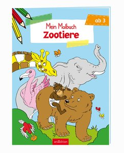Malbuch ab 3 - Zootiere VE5