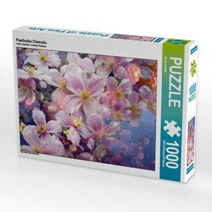 Poetische Clematis 1000 Teile Puzzle hoch