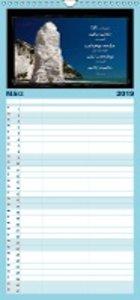Monat für Monat ein Bibelvers - Familienplaner hoch (Wandkalende