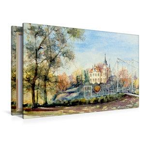 Premium Textil-Leinwand 120 cm x 80 cm quer Gattersburg