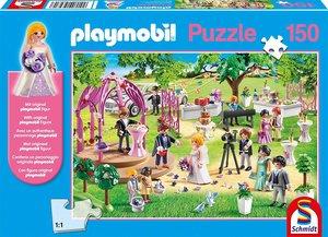 Schmidt 56271 - Playmobil, Hochzeit, Puzzle, eine Figur, 150 Te
