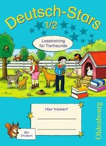 Deutsch-Stars 1./2. Schuljahr. Lesetraining für Tierfreunde