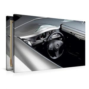 Premium Textil-Leinwand 90 cm x 60 cm quer Stirling Moss