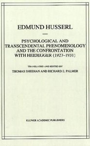 Psychological and Transcendental Phenomenology and the Confronta