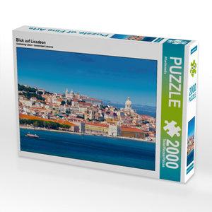 Blick auf Lissabon 2000 Teile Puzzle quer