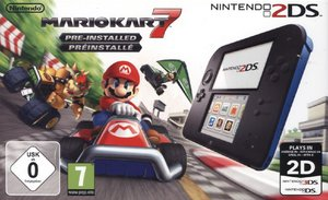 Nintendo 2DS Konsole - schwarz inkl. Mario Kart 7 (Limited Edt.)