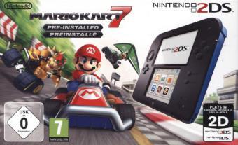 Nintendo 2DS Konsole - schwarz inkl. Mario Kart 7 (Limited Edt.) - zum Schließen ins Bild klicken