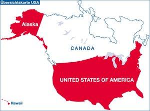 USA 1 : 5 000 000. Übersichtskarte