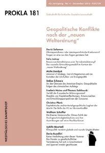 """Geopolitische Konflikte nach der """"neuen Weltordnung"""""""