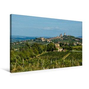 Premium Textil-Leinwand 75 cm x 50 cm quer San Gimignano