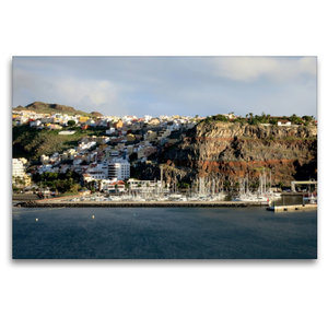 Premium Textil-Leinwand 120 cm x 80 cm quer Gomera - San Sebasti