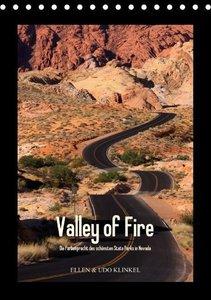 Valley of Fire / AT-Version (Tischkalender immerwährend DIN A5 h