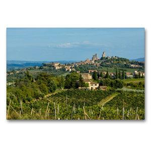 Premium Textil-Leinwand 90 cm x 60 cm quer San Gimignano