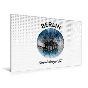 Premium Textil-Leinwand 120 cm x 80 cm quer Graphic-Art BERLIN B