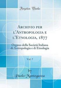 Archivio Per l\'Antropologia E l\'Etnologia, 1877, Vol. 7: Organ