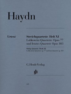 Streichquartette Heft XI op. 77 und op. 103