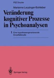 Veränderung kognitiver Prozesse in Psychoanalysen