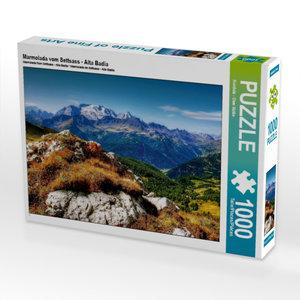 Marmolada vom Settsass - Alta Badia 1000 Teile Puzzle quer