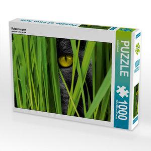 Katzenaugen 1000 Teile Puzzle quer