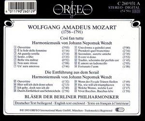 Cosi fan tutte/Die Entführung (Harmoniemusik)