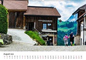 Gruyères mittelalterliche Stadt (Wandkalender 2020 DIN A2 quer)