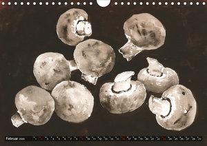 Pilze in Aquarell