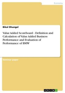 Value Added Scoreboard - Definition and Calculation of Value Add