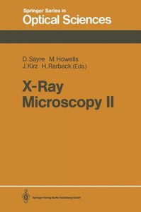 X-Ray Microscopy II