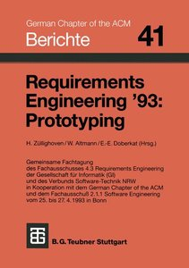 Requirements Engineering '93: Prototyping