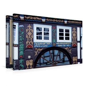 Premium Textil-Leinwand 90 cm x 60 cm quer Das Doktorhaus in Blo