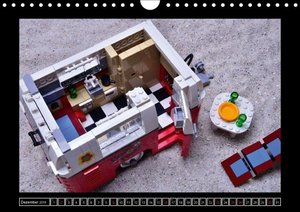 Der LEGO Bulli und sein Anhang (Wandkalender 2018 DIN A4 quer)