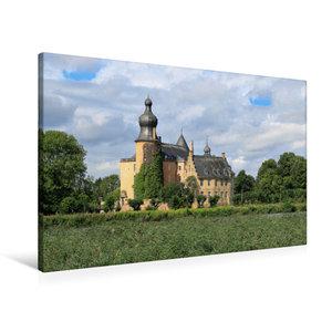 Premium Textil-Leinwand 90 cm x 60 cm quer Wasserburg Gemen in B