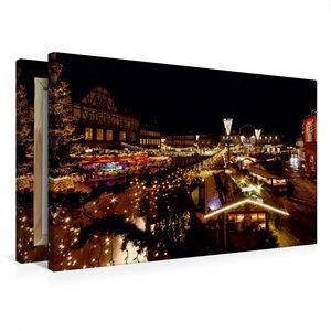 Premium Textil-Leinwand 75 cm x 50 cm quer Weihnachtsmarkt in Go