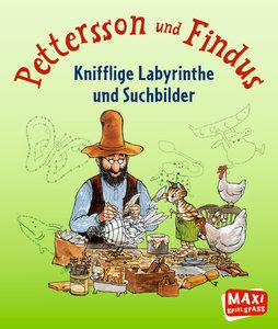 Pettersson & Findus - Knifflige Labyrinthe und Suchbilder