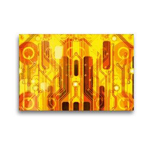 Premium Textil-Leinwand 45 cm x 30 cm quer Kirche auf goldenem H