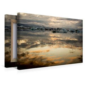 Premium Textil-Leinwand 45 cm x 30 cm quer Sonnenuntergang am Gl