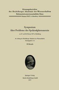 Symposium über Probleme der Spektralphotometrie am 27. und 28. F