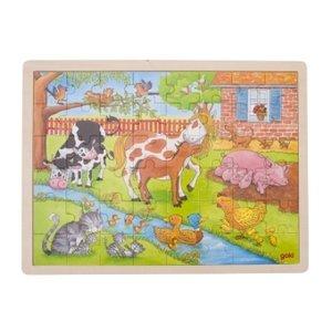 Einlegepuzzle Leben auf dem Bauernhof (Kinderpuzzle)