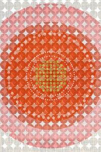 Premium Textil-Leinwand 30 cm x 45 cm hoch Punkte, Orange und Go