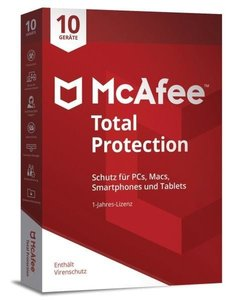 McAfee Total Protection 10 Device (Code in a Box). Für Windows V