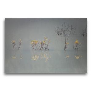Premium Textil-Leinwand 75 cm x 50 cm quer Von güldenen Blätter