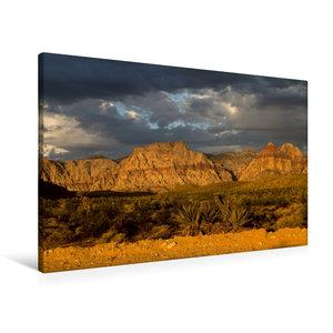 Premium Textil-Leinwand 90 cm x 60 cm quer Red Rocks, Nevada