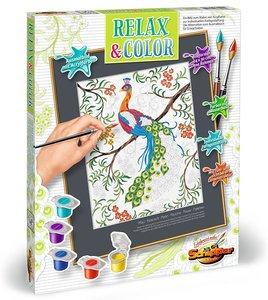 Schipper 609480744 Malen nach Zahlen Relax und Color Pfau, Malse