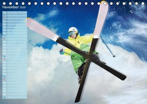 Ski und Snowboard - Leidenschaft im Schnee (Tischkalender 2019 D