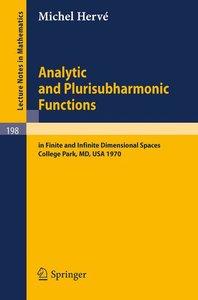 Analytic and Plurisubharmonic Functions