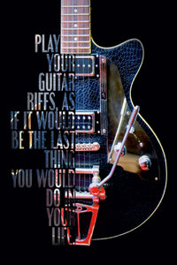 Premium Textil-Leinwand 30 cm x 45 cm hoch Outlaw, E-Gitarre mit