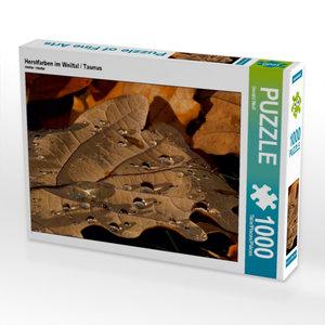 Herstfarben im Weiltal / Taunus 1000 Teile Puzzle quer