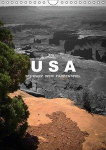 USA - Schwarz weiß Farbenspiel (Wandkalender immerwährend DIN A4