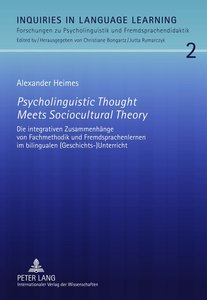 Psycholinguistic Thought Meets Sociocultural Theory