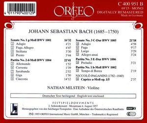 Violinsonaten BWV 1001,1005/Partita BWV 1004
